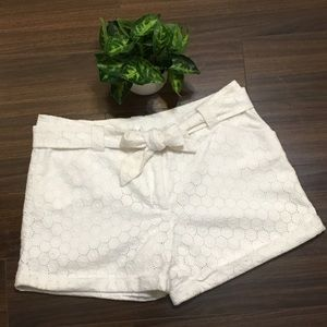 White House Black Market Eyelet Shorts - White